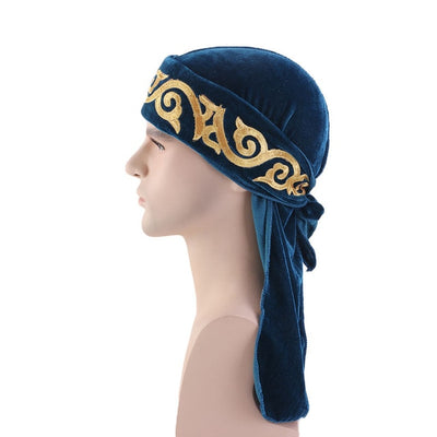 Blue Flame Velvet Durag - Taelor Boutique