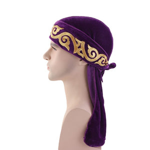 Purple Flame Velvet Durag - Taelor Boutique