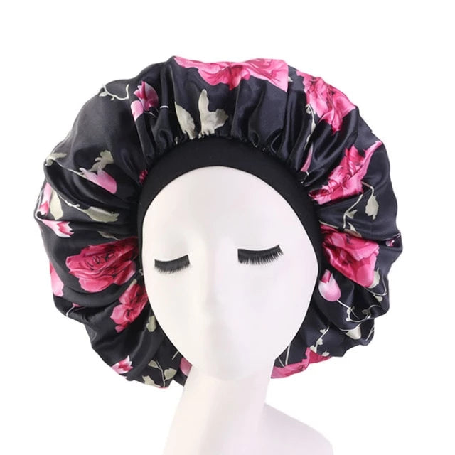 Extra Large Floral Silk Bonnet - Taelor Boutique