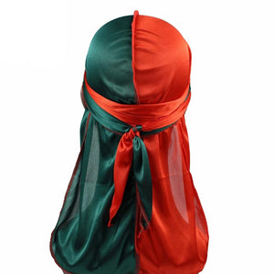 Green & Red Two Tone Silky Durag - Taelor Boutique