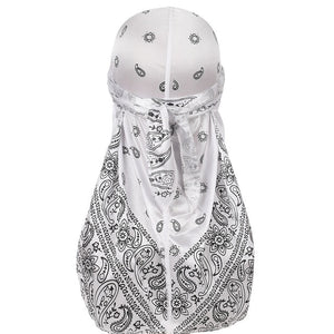 White Silky Bandana Durag - Taelor Boutique