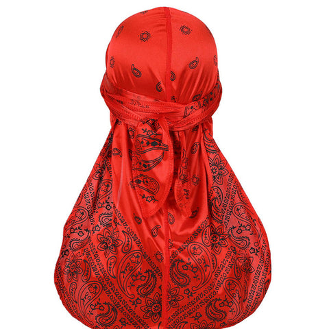 Red Silky Bandana Durag - Taelor Boutique