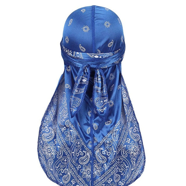 Royal Blue Silky Bandana Durag - Taelor Boutique