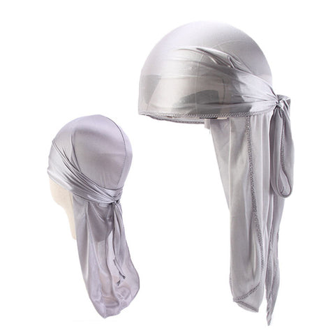Silver Father and Son Silky Durag Set