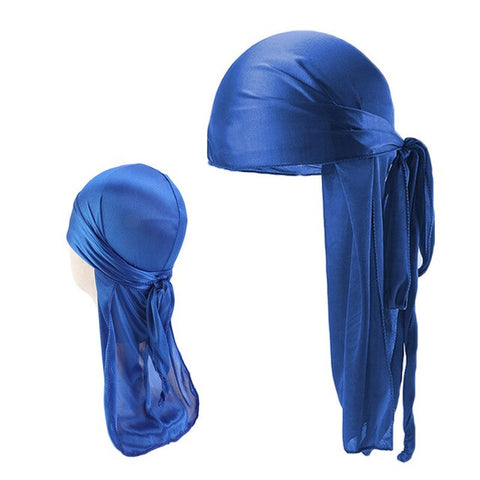 Blue Father and Son Silky Durag Set