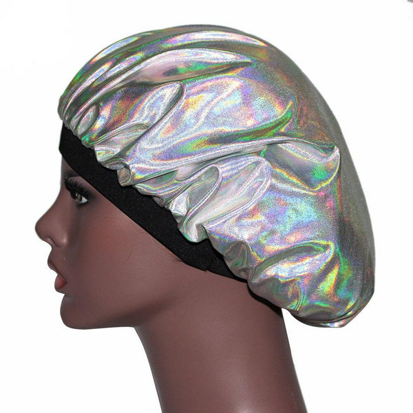Iridescent Silky Durag & Bonnet Set - Taelor Boutique