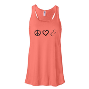 Peace Love Cyclinsanity Razorback Tank