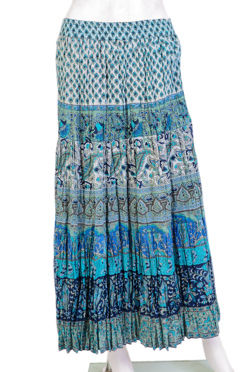 802aa43bc6 printed crinkle broomstick skirt with elastic waist. Ankle length