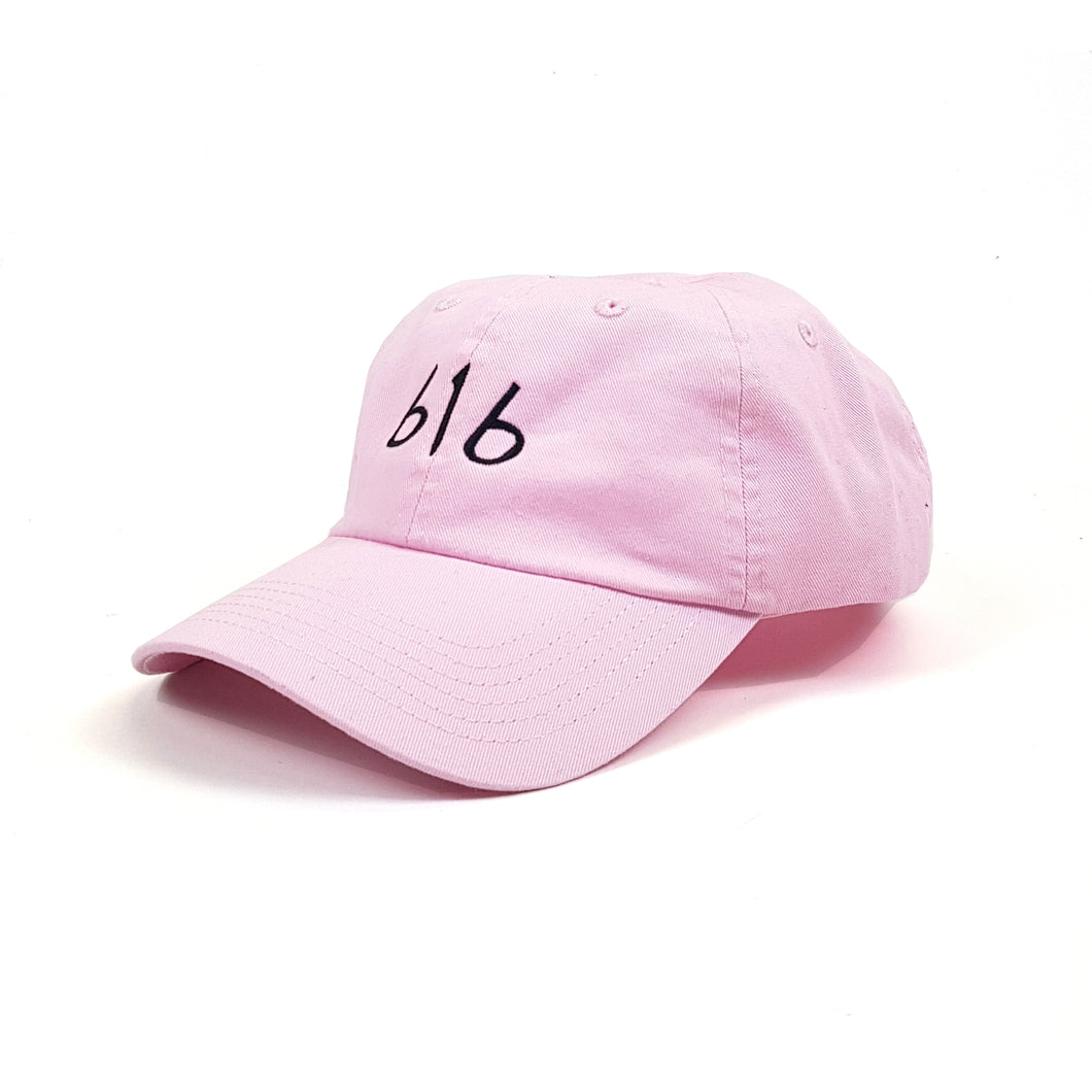 616 DVLGNG STEP DAD CAP (BLACK ON PINK)