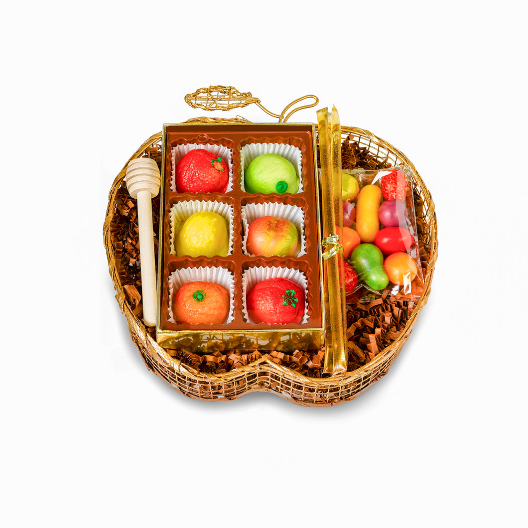New Year sweet gift fruit themed - by gift kosher