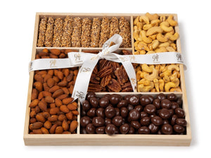 Chocolate & Nuts Wood Tray