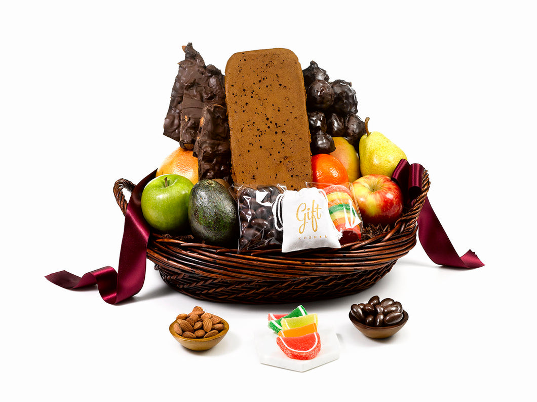 Happy Passover Fruits & treats Gift Basket by Gift Kosher
