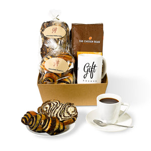 Gift Box with Coffee, Babka Cake & Rugelach by Gift Kosher