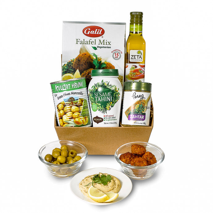 Gift Box with falafel and Israeli foods by Gift Kosher