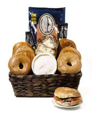 Bagels & Lox Gift Basket by Gift Kosher