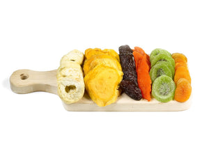 Wooden board with assorted dried fruits - Gift Kosher