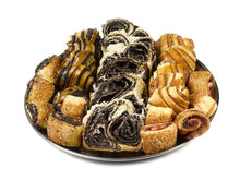 shiva sympathy gift Platter with Chocolate Babka & Assorted Rugelach Baked goods - Gift Kosher