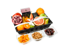 Gift Kosher Basket with Fresh fruits, nuts & dried fruit
