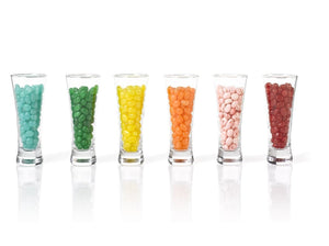 6 Shot Glass cups with Candy Jelly beans flavors - Gift Kosher