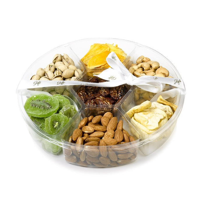Large Tray filled with Dried Fruits, & Gourmet Nuts - Gift Kosher