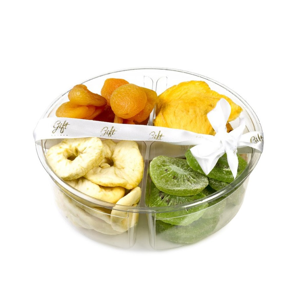 Small tray filled with dried fruits - Gift Kosher