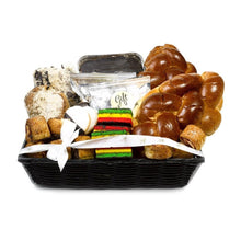 Gift Kosher Shiva Sympathy Basket filled with lots of Baked Goods. Elegant & Deluxe