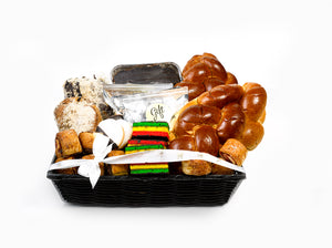 Gift Kosher Basket filled with lots of Baked Goods. Elegant & Deluxe