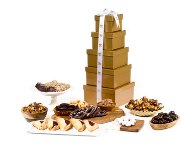 Ultimate Purim Gift Tower by Gift Kosher