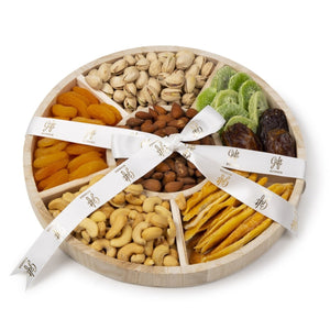 Deluxe Dried Fruit & Nut Wood Tray by Gift Kosher