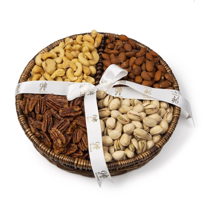 Gourmet Nuts Willow Platter by Gift Kosher