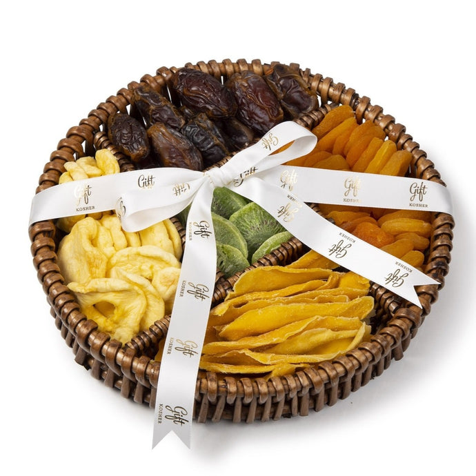 Dried Fruit Willow Platter by Gift Kosher