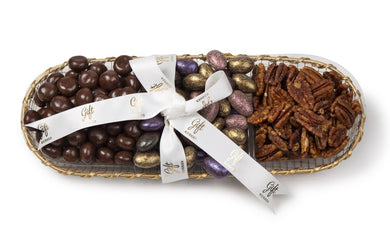 Elegant Chocolate & Nut Tray by Gift Kosher