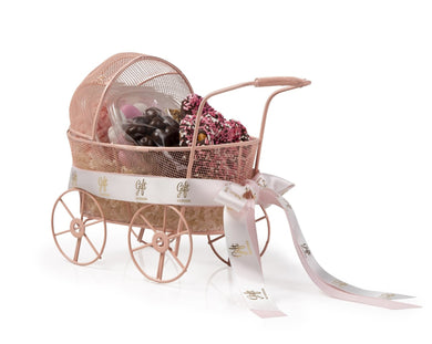 Baby Girl Carriage Gift Basket