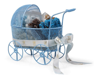 Baby Boy Carriage Gift Basket by Gift Kosher