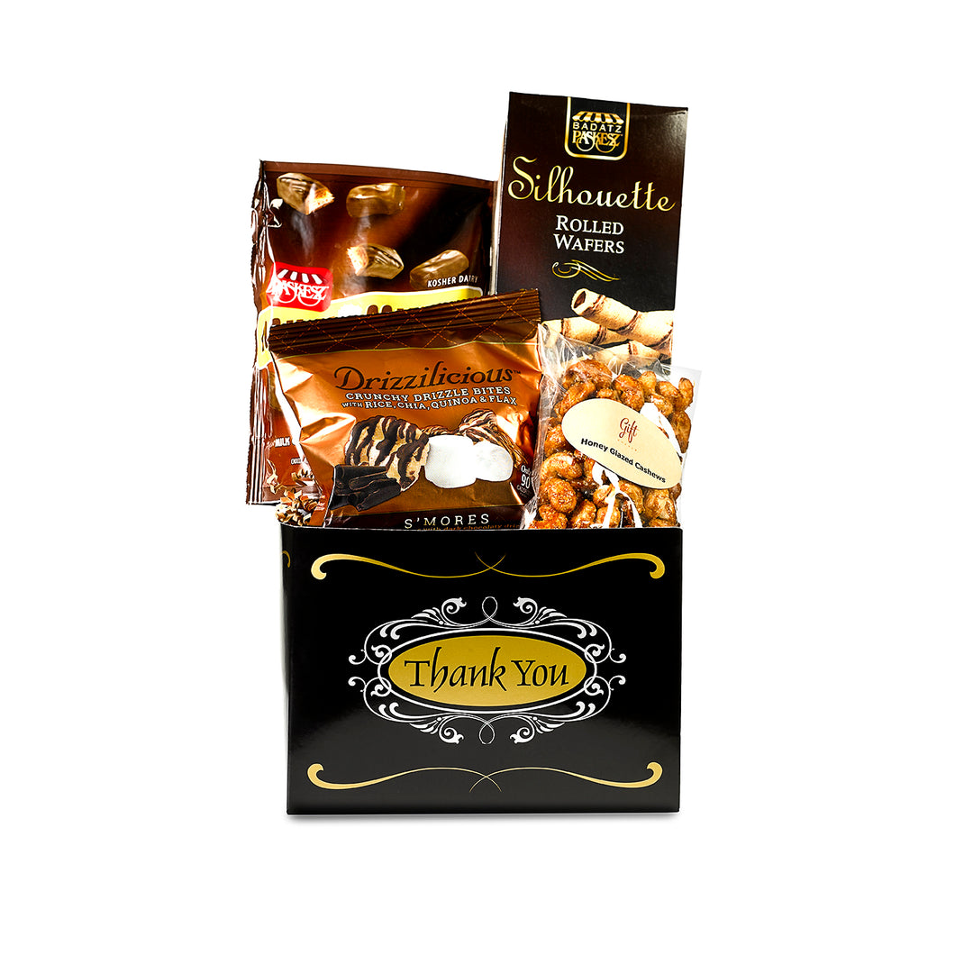Thank you gift box with nuts, chocolates and sweets by Gift Kosher