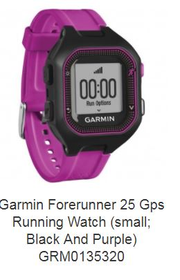 Garmin(R) 010-01353-20 Forerunner(R) 25 GPS Running Watch (Small; Black/Purple)