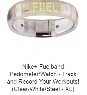 Nike+ Fuelband Pedometer/Watch - Track and Record Your Workouts! (Clear/White/Steel - XL)