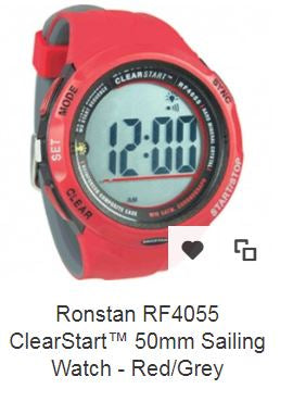 Ronstan RF4055 ClearStart™ 50mm Sailing Watch - Red/GreyZoom   Ronstan RF4055 ClearStart™ 50mm Sailing Watch - Red/Grey