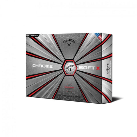 Callaway Chrome Soft X Golf Balls 12-Pack White