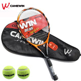Beach Aluminum Alloy Tennis Racket 1 Pcs CAMEWIN Brand Tennis Racket With Bag (2 Tennis Balls Free Gift) Color: Black Orange