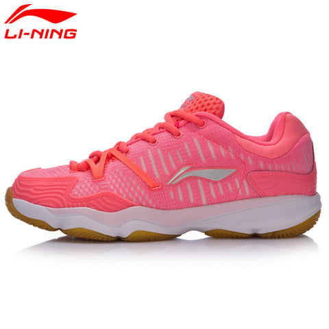Li-Ning Women Double Jacquard Badminton Training Shoes Breathable Hard-Wearing Sneakers LiNing Sports Shoes AYTM078 XYY043