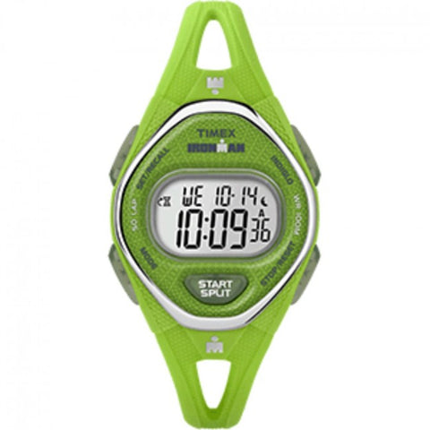 Timex IRONMAN® Sleek 50 Mid-Size Silicone Watch - Green