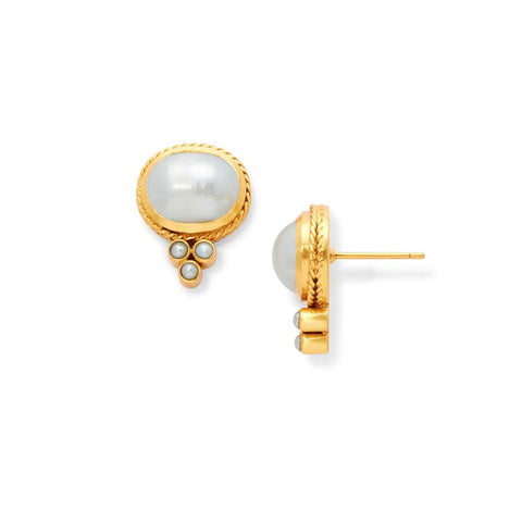 Julie Vos Mirren Stud Earring Earrings in  at Wrapsody