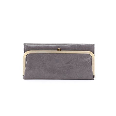 Hobo - Rachel Graphite Leather Large Tri-Fold Wallet