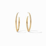 Julie Vos Fleur-de-Lis Hoop Large Earrings in Default Title at Wrapsody
