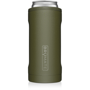 Hopsulator Slim Can Cooler Drinkware in OD Green at Wrapsody