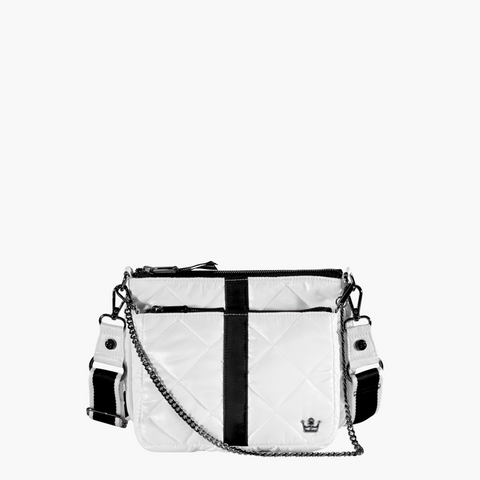 Oliver Thomas Double Trouble 2-in-1 Crossbody Bag Handbags in White/Blk at Wrapsody