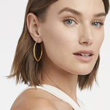 Julie Vos Fleur-de-Lis Hoop Large Earrings in  at Wrapsody