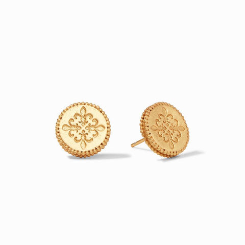 Julie Vos Fleur-de-Lis Stud Earrings in Default Title at Wrapsody