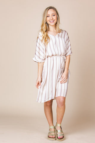 Right Stripes Dress Dresses in Multi at Wrapsody